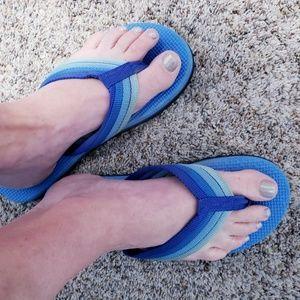Shoes - Vtg 80's Flip Flops- Thick Foam Sandals 9/9.5